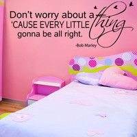 Kids Room Wall Decor Decal Wall Decal Sticker Art Vinyl Quote Don't worry about a thing, Birds