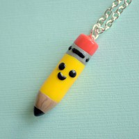 Handmade Miniature Pencil Charm Necklace - Whimsical & Unique Gift Ideas for the Coolest Gift Givers