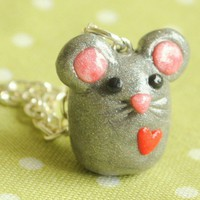 Handmade Miniature Mouse Charm Necklace - Whimsical & Unique Gift Ideas for the Coolest Gift Givers