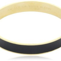 "Kate Spade New York ""An Ace Up Your Sleeve"" Gold-Tone Black Idiom Bangle Bracelet:Amazon:Jewelry"