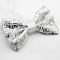 Men's Adjustable Sequin Bow Tie with for a Tuxedo or a Suit