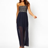 TFNC | TFNC Maxi Dress With Sequin Bandeau at ASOS