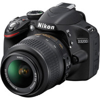 Walmart: Nikon Black D3200 Digital SLR Camera with 24.2 Megapixels and 18-55mm Lens Included