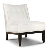Morrow Slipper Chair In Cashin Snow