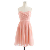 Petite Arabelle dress in silk chiffon - Cocktail - Women's dresses - J.Crew