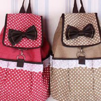 Sweet Trendy Lace Canvas Backpacks for Summer