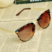 Women's Cat Eye OverSized Round Sunglasses HJG001