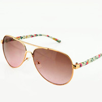 Flora Print Leg Sunglasses for Women HG321