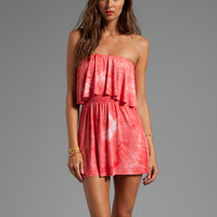 T-Bags LosAngeles Strapless Cutout Mini Dress in Coral
