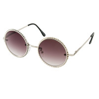 ASOS | ASOS Diamante Round Sunglasses at ASOS