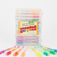 Scented Gel Pen -- Set Of 24