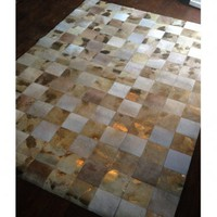 NEW! Midas Touch Hide Giant Patchwork Rug|Rugs  Hides|Bed Linen  Rugs|French Bedroom Company