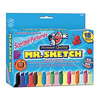Sanford Mr Sketch Scented Watercolor Markers Assorted Colors Set Of 18 by Office Depot