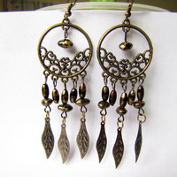 ancient vintage style bronze beads earringsunique by braceletcool