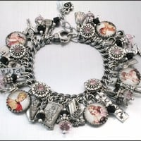 Charm Bracelet Pinups 1940&#x27;s Diva  Vintage by BlackberryDesigns
