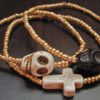 www.shop-savage.com ; Skulls and Crosses Bracelet