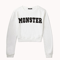 Monster Cropped Pullover | FOREVER 21 - 2077234516