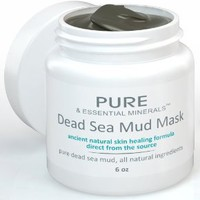 Dead Sea Mud Face Mask - Ancient Natural Facial Mask and Skin Care Treatment for Women, Men and Teens - Organic Mud Mask Facial Exfoliant Offers Scrub Moisturizer and Cleanser System - Anti Aging Clay & Mud Heals Dry & Oily Skin, Acne, Eczema & Psoriasis -