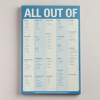All Out Of Pad | World Market