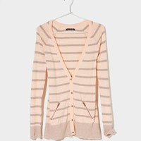 AE Striped Boyfriend Cardigan | American Eagle Outfitters