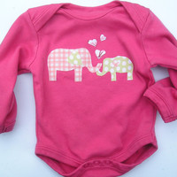 6 12 months Baby Organic LONG Sleeve Bodysuit by GrowingUpWild