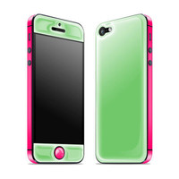 Apple + Neon Pink Glow Gel iPhone 5 Skin