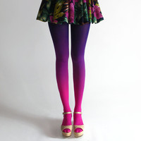 BZR Ombré tights in Electric