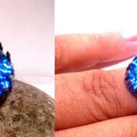 Dragon's Breath Fire Ring  Mexican Opal  by FashionCrashJewelry