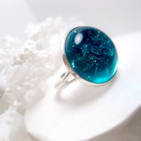 Squid Beach Ring  Aqua  Turquoise  by FashionCrashJewelry on Etsy