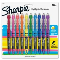Sharpie Accent Highlighter - Marker Point Style: Micro Chisel - Ink Color: Berry, Blue, Fluorescent Green, Fluorescent Orange, Fluorescent Pink, Fluorescent Yellow, Purple, Red - 10 / Set