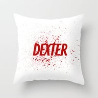 Dexter#01 Throw Pillow by Pedro A Ribeiro