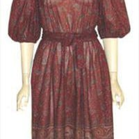 Lady Carol 1970s Vintage Diaphanous Dress