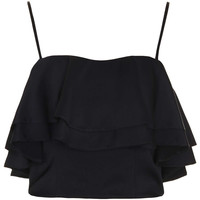 Frill Crepe Bralet - Tops - Clothing - Topshop