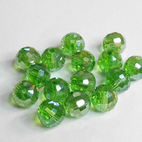 Disco Ball Austria Crystal Peridot AB 8mm