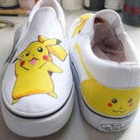 Pokemon Trainer Shoes Pokemon Anime painted canvas shoes sneakers
