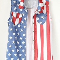 Retro Americana Denim Vest