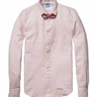 Special weave dress shirt with bow tie