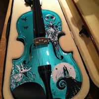 Hand-Painted Nightmare Before Christmas Violin