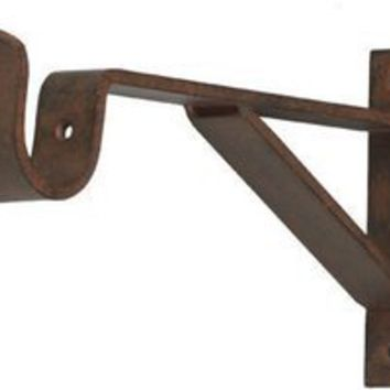 Curtain Rod Bracket Extenders Wood Curtain Rod Brackets