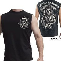 Sons of Anarchy SAMCRO Shield Muscle Black Men's Sleeveless T-shirt - Sons of Anarchy - | TV Store Online