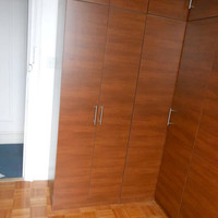 Extra Tall Corner Wardrobes Java Finish
