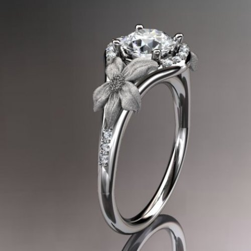 14kt platinum diamond leaf and vine wedding ring,engagement ring ...... | AnjaysDesigns - Jewelry on ArtFire