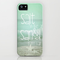 *** SALT IN THE AIR  *** iPhone & iPod Case by SUNLIGHT STUDIOS  Monika Strigel *** Starfish *** iphone case for 5 + 4 + 3 G + 3GS + ipod
