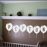 Vinyl Wall Lettering Nursery Custom Personalized by WallsThatTalk