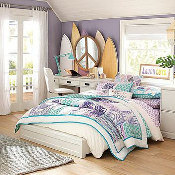 paramount floral surf bedroom from pbteen room ideas