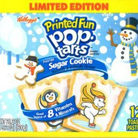 Kellogg's Printed Fun Pop Tarts Frosted Sugar Cookie - Limited Edition, 12 Pastries, 21.2 oz Box