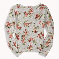 French Terry Floral Pullover | FOREVER 21 - 2049257116