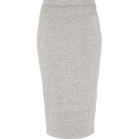 Grey marl double layered pencil skirt - tube / pencil skirts - skirts - women