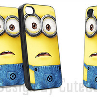 New Of Minion Despicable Me 2 - Print Hard Case iPhone 4/4s or iPhone 5 Case - Black or White Bumper (Option)