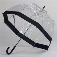 Clear Bubble Umbrellas Blk Trim:Amazon:Clothing